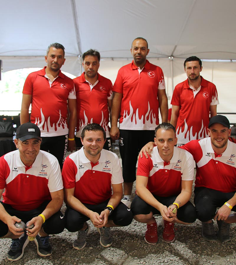 Our England Senior Men at the 2019 FIPJP World Championships in Desbiens, Canada,