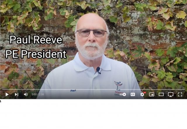 Video: New PE President on initial plans